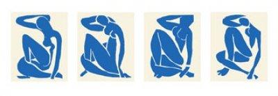 "Kunstdruck, Poster ""Blue Nude"