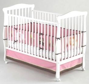 Little Bedding by NoJo 4 Piece Raspberry Jungle Bumper Set - 1