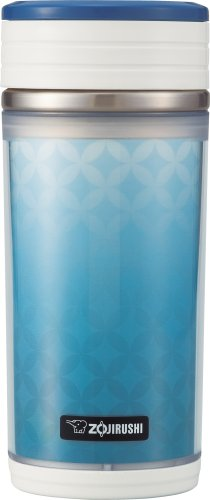 Zojirushi SM-BTE35AA D-Mug Stainless Mug with Tea Strainer 11ounce Blue
