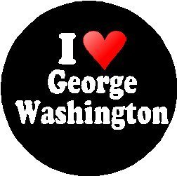 (Quantity 20) I Love George Washington 1.25″ Pinback Buttons Badges / Pins (heart)