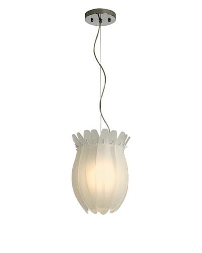 Trend Lighting Aphrodite I Small Pendant Lamp, White/Polished Chrome