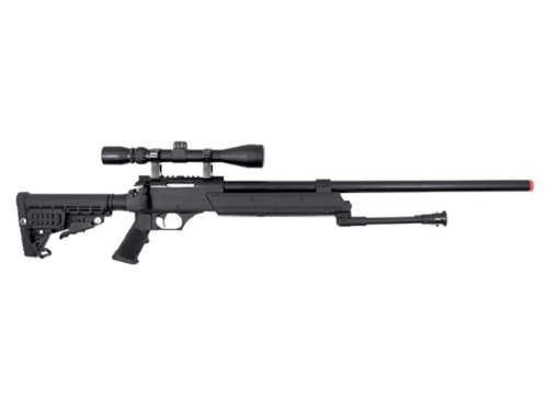 WELL Heavy Weight Spring Sniper Rifle with Scope and Bipod