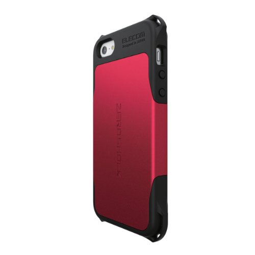 ELECOM iPhone5/5S用 全方向衝撃吸収ケース ZEROSHOCKシリーズ レッド PS-A12ZERORD