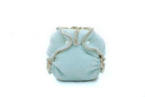 Kissaluvs Cotton Fleece Fitted Diaper, Sky Blue, 0 - Newborn 5-15Lbs front-606426