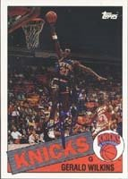 Gerald Wilkins New York Knicks 1993 Topps Archives Autographed Hand Signed Trading... by Hall of Fame Memorabilia