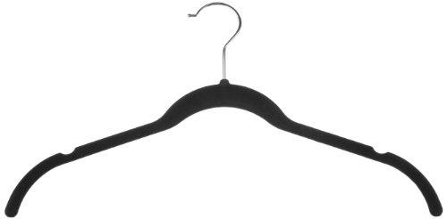 Amazonベーシック ベルベット スーツ/ドレスハンガー30本組 (ブラック)