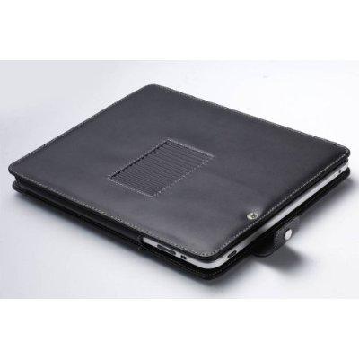 Imagen de Cuero Funda Cover / Folio Con soporte incorporado para Apple iPad Tablet 3G / 16GB modelo Wifi, 32GB, 64GB (NEGRO)