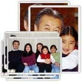 "2 X Freez-A-Frame Magnetic Combo Pack with 4 - 4"" x 6"" & 2 - 5"" x 7"" Magnetic Photo Frames"