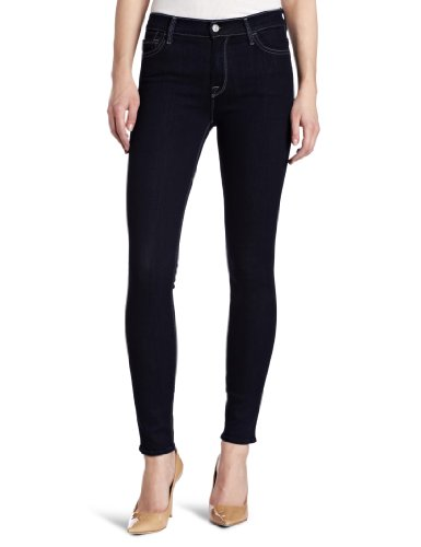 7 For All Mankind Women's Mid Rise Skinny Fit Jean, Rinsed Indigo, 27