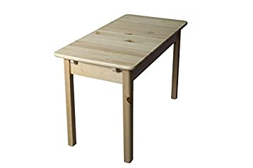 Table extractible en bois du pin massif nature 008 - Dimensions: 75 x 145/210 x 90 cm