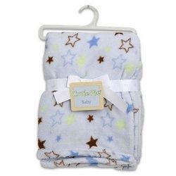 Blanket Coral Fleece Blue Color - Case Pack 48 Sku-Pas916927 front-1072174