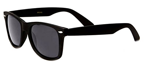 Sunglasses Classic 80's Vintage Style Design (Black Gloss, Polarized) (Vintage Glasses 80 compare prices)