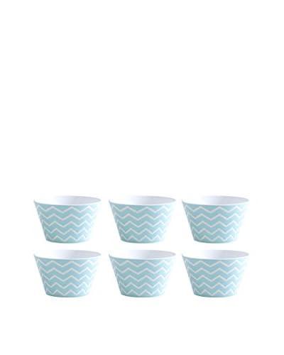 Shiraleah Set of 6 Turquoise Morocco Bowls