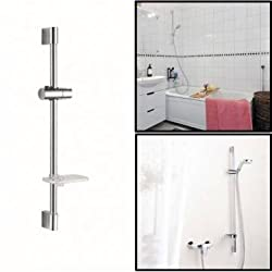 LSAhroom Shower Head Lifting Rod Set with Soap Dish And Shower Head Holder