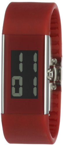 Rosendahl Ladies Digital Watch II 43128 Red with Polished Stainless Steel Case and Red Polyurathane Strap