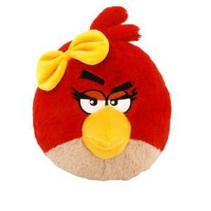 "Angry Birds Plush Backpack Clip 2.5"" - Red Birdy - 1"