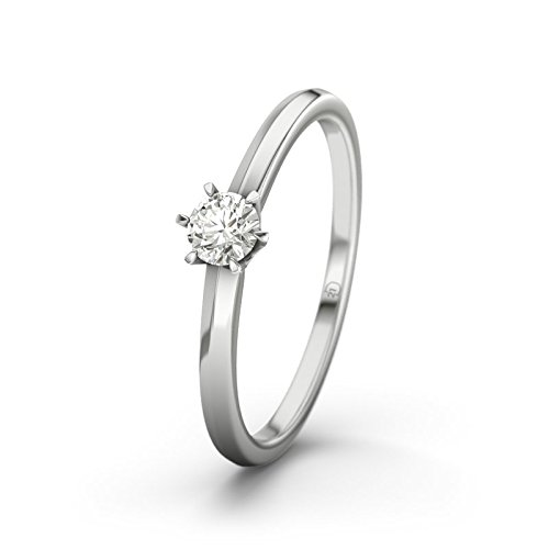21DIAMONDS Women's Ring Mérida VVS1 0.75 Ct Brilliant Cut Diamond Engagement Ring, 9ct White Gold Engagement Ring