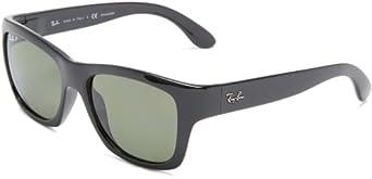 Ray-Ban 0RB4194 601/9A53 Polarized Highstreet Wayfarer Sunglasses,Black,53 mm