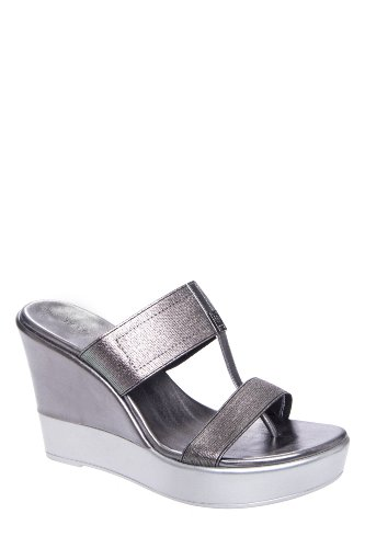 BCBGeneration Quintin High Wedge Slip On Thong Sandal