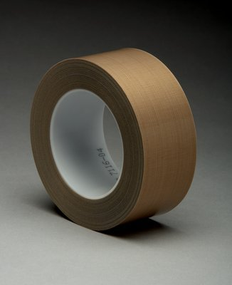 (3M 5453) (3M Id Number 70016054481) 3M(Tm) Ptfe Glass Cloth Tape 5453 Brown, 1/2 In X 36 Yd 8.3 Mil, 18 Per Case [You Are Purchasing The Min Order Quantity Which Is 18 Rolls]