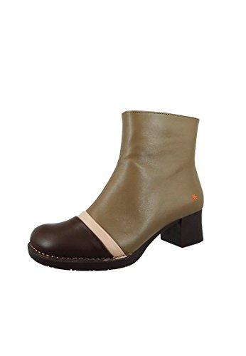 Art Leather gonna boot Stivaletti Bristol Beige Marrone 0077, ART Schuhe Damen:37