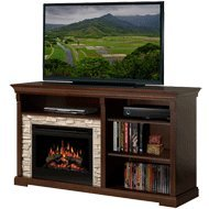 Edgewood 65 Tv Stand With Electric Fireplace Insert Style Logs from Dimplex