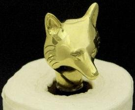 Mayer Mill Brass Fox Head Paper Towel Holder
