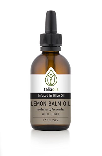 Lemon Balm (Melissa Officinalis) Infused Oil Extract (Macerated Oil), 1.7 Oz - 50 Ml / Cold Sores, Shingles, Tension, Depression