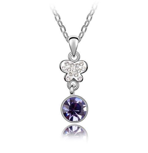Boxingcat Fine Jewelry Swarovski Style Clear Austrian Crystal Pendant Necklaces Bgca4955 front-982869