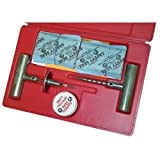 """Search : Safety Seal (SFESSKAP) Auto Tire Repair Kit, with 60 4"""" Inserts, Insertion Tool, Spiral Probe, Lube, Extra Needle, in Case"""
