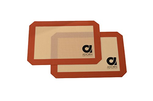 Adorn Non-stick Silicone Baking Mats - 2 Pack (8 X 11) (Mat Under Toaster Oven compare prices)