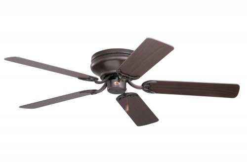 Emerson CF805SORB Snugger Indoor 52-Inch 5-Blade Ceiling Fan with Dark-Cherry/Medium-Oak Blades, Oil-Rubbed Bronze