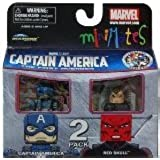 Marvel MiniMates Series 40 Mini Figure 2Pack Captain America Red Skull