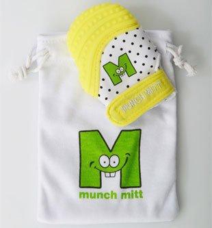 Munch Mitt Mini Baby Teething Mitten - Yellow