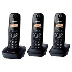 Panasonic KX-TG1613 Trio, Black, KX-TG1613NEH