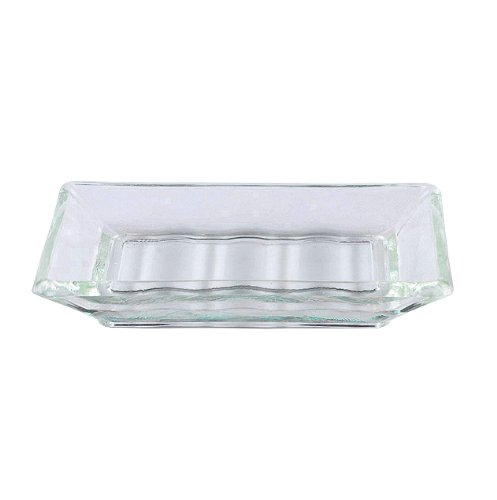 Vintage french recycled glass bar soap dish for kitchen for Clear glass bathroom accessories