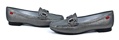 Marc Joseph Pewter Grainy Grand St. Leather Loafer Slip On Shoes New
