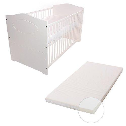 Babyblume-Babybett-Kinderbett-140x70-Umbaubar-Kuba-in-verschiedenen-Varianten-Weiss-inkl-Matratze-BASIC