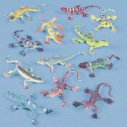 Vinyl Glitter Lizards (2 dozen) - Bulk [Toy]