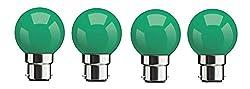 Syska SKC-0.5W-G Base B22 0.5-Watt LED Glass Bulb (Green)