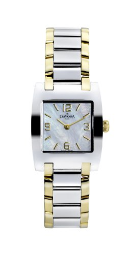 Davosa Dreamline Tonneau Women's Quartz Watch with Mother of Pearl Dial Analogue Display and Silver Stainless Steel Bracelet 16856184