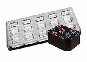 Fat Daddio's PCMM-01 15-Piece Indented Corner Chocolate and Candy Mold Tray Set