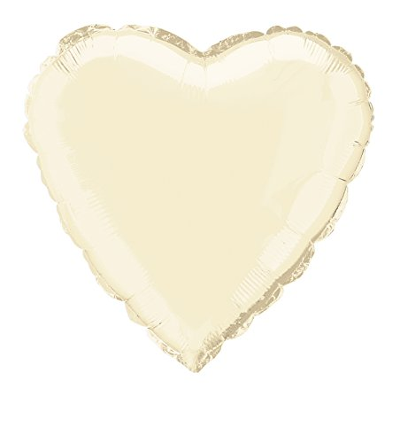 18'' Foil Ivory Heart Balloon