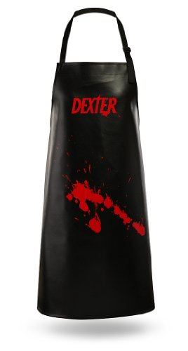 Dexter Apron Made Of Black Vinyl With Adjustable Neck Strap