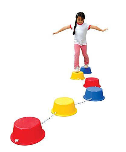 school-smart-stepping-buckets-balance-builders-5-x-12-inch-set-of-6-2-each-of-3-primary-colors