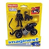 Fisher Price - DC Super Friends - Imaginext - Catwoman with Cat and Catbike
