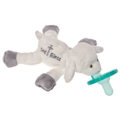 Mary Meyer Wubbanub Pacifier with BONUS Pacifier Wipes, God Bless Lamb - 1