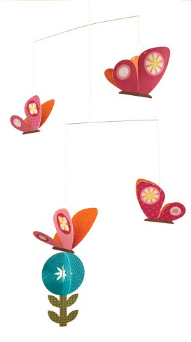 Petit Collage Paper Mobile, Spring Butterflies front-965559
