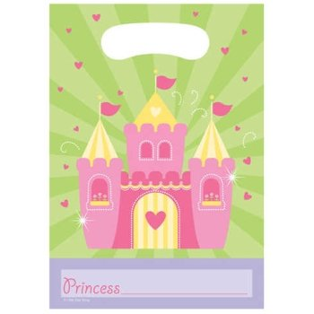 Fairytale Princess Loot Bags 8 Per Pack - 1