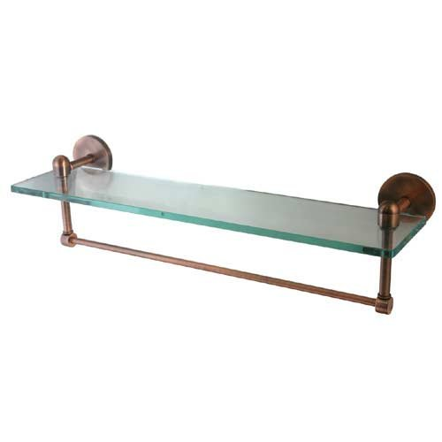 cheap tango 16 glass shelf with towel bar antique. Black Bedroom Furniture Sets. Home Design Ideas